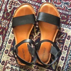 Nine West strappy black sandals
